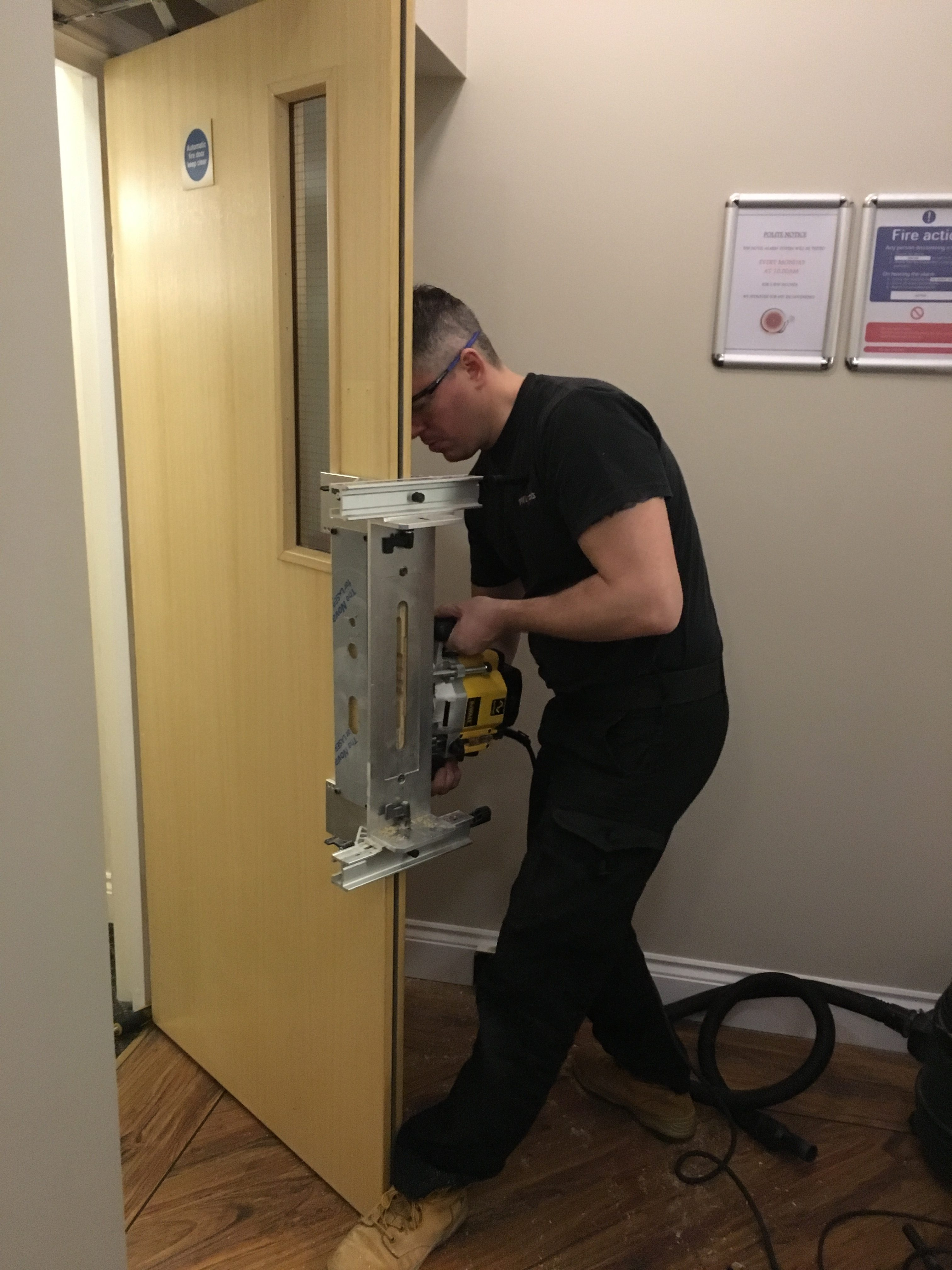 hospitality lock installation